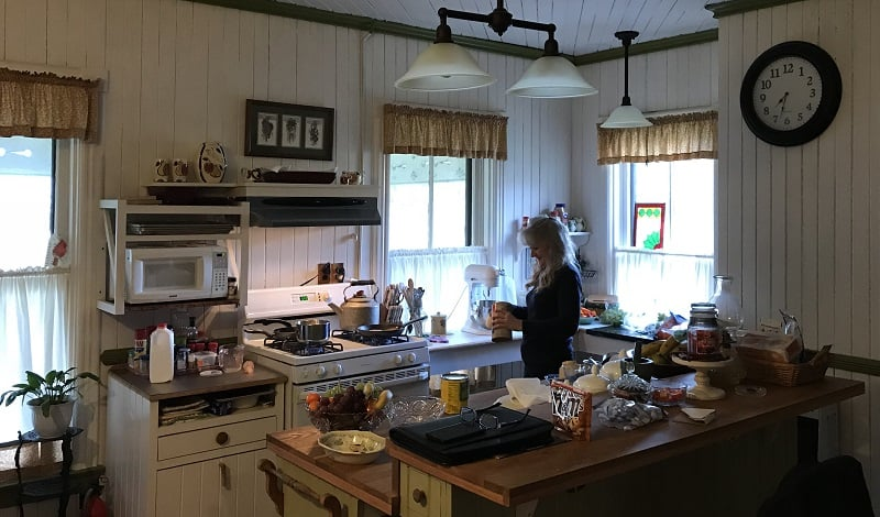 B&B owner Julia McCray in her kitchen