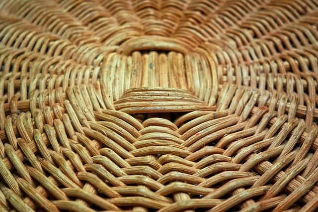 Pattern on the bottom of a basket