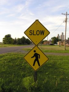 Slow people sign